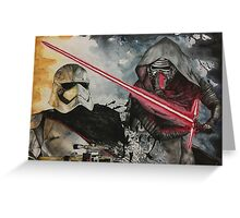 Kylo Ren & Captain Phasma Greeting Card