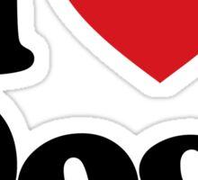I Love Heart Dogs Sticker Sticker