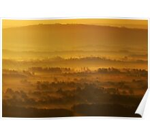 Spring Equinox Sunrise over The Severn Valley Poster