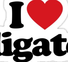 I Love Heart Alligators Sticker Sticker