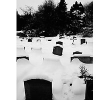Graveyard - Finstock, Oxfordshire Photographic Print