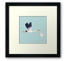 Stork Brings Baby Framed Print