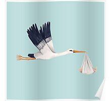 Stork Brings Baby Poster