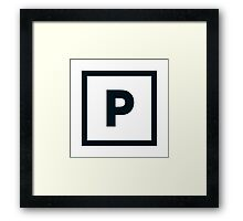 "Alphabet ""P"" Framed Print"