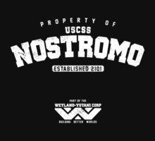 Property of USCSS Nostromo - white Kids Clothes