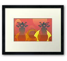 The Red Shore-line Framed Print