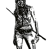 Michone Walking Dead by manuwiza