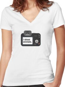Photography Photographer Gift Cool Women's Fitted V-Neck T-Shirt