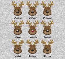 Reindeer One Piece - Short Sleeve