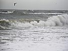 Rainstorm  and Surf - Diamond Shoals NC by MotherNature