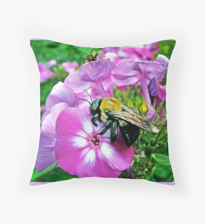 Who's on my Flower Throw Pillow
