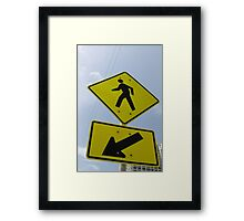 Here Is A Crossing Framed Print