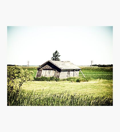 Old Leaning Shack Photographic Print