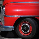 Old Red Chevrolet Car by Jonice