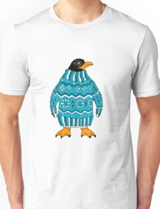 cute penguin in sweater Unisex T-Shirt