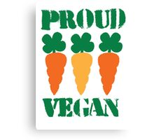 PROUD VEGAN with carrots Canvas Print