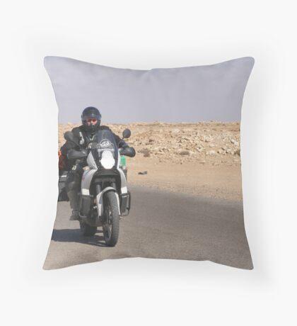 Desert Rider Throw Pillow