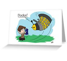 Eleventh Doctor vs a Dalek ... Peanuts Style Greeting Card