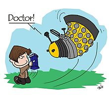 Eleventh Doctor vs a Dalek ... Peanuts Style Photographic Print