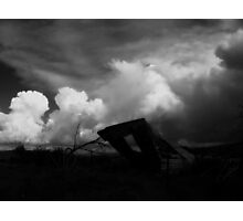 lean.to, new mexico plateau Photographic Print