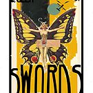 Dada Tarot- Queen of Swords by Peter Simpson