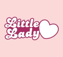 Little lady with cute little heart Kids Clothes