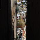 Narrow street in Positano by Mykola