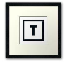 """Alphabet """"T"""" Framed Print"""