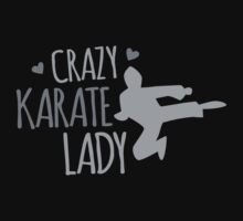 Crazy KARATE Lady Kids Tee