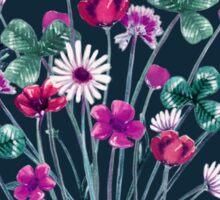Meadowsweet III Pink on Denim Sticker