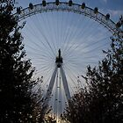 London Eye at dusk by thebirt