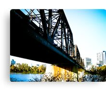 Old Train Bridge Canvas Print