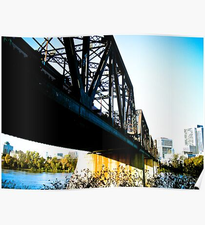 Old Train Bridge Poster