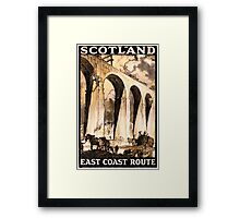 Rare Scotland Vintage Travel Poster Restored Framed Print