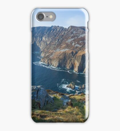 Sliabh Liag sea cliffs in Co. Donegal iPhone Case/Skin