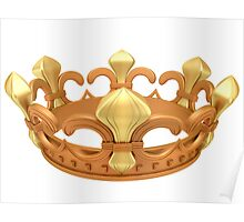Royal gold crown Poster