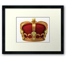 Gold imperial crown Framed Print
