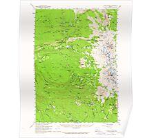 USGS Topo Map Oregon Three Sisters 282951 1959 62500 Poster