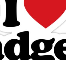 I Love Heart Badgers Sticker Sticker