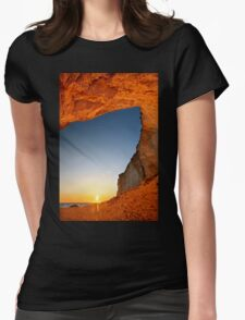 Sunset at Erimitis beach - Paxos island Womens Fitted T-Shirt