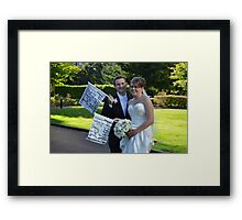 JUST MARRIED... Framed Print
