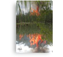 Bush Fire Canvas Print