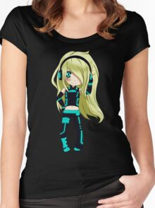 Anime Chibi 5. Women's Fitted Scoop T-Shirt