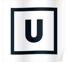 """Alphabet """"U"""" Poster"""