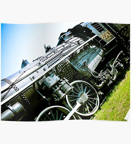 Old locomotive Steam Train 01 Poster