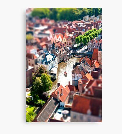 Bruges (tilt and shift) Canvas Print