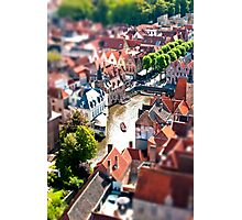 Bruges (tilt and shift) Photographic Print