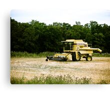 Old Yellow Combine 01 Canvas Print