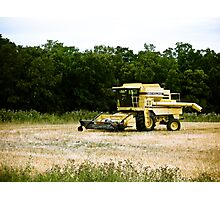 Old Yellow Combine 01 Photographic Print