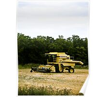 Old Yellow Combine 02 Poster